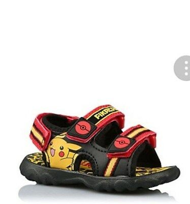 Boys Pokemon Pikachu Sandals UK 8 Infant EU26 Brand New With Tags