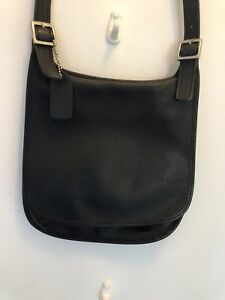 Details About Vintage Coach 9131 Black Crossbody Saddle Bag Purse