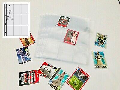 50 EXTRA STARK A4 Sammelhüllen Prospekthüllen Kartenhüllen 140my 2 Fächer A5