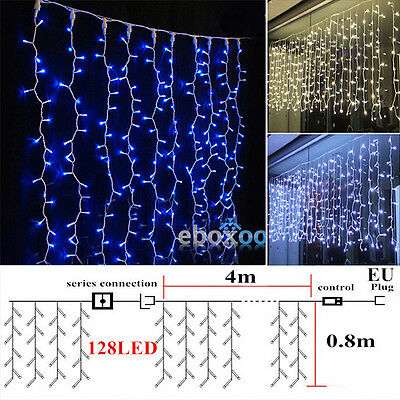 3.5/5M 3x3M 4x0.8M Icicle Hanging Curtain Lights Fairy String Christmas Lighting