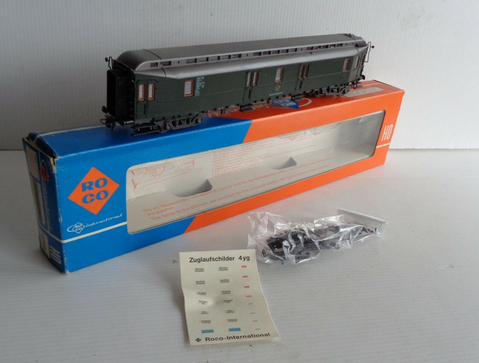 OLD ROCO Car Posts DB Postwagen 4293 Ech Ho MINT BOX