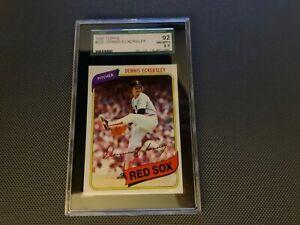 1980 TOPPS DENNIS ECKERSLEY BOSTON RED SOX HOF #320--SGC 92=8.5=NR MINT-MINT+!!!