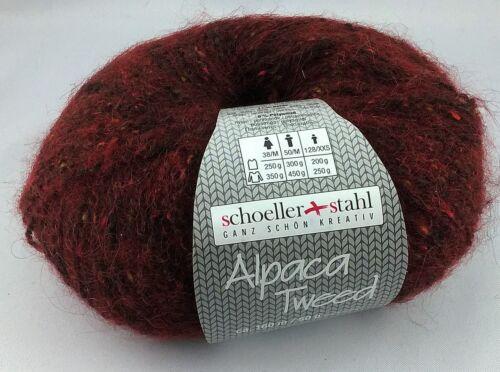 100g=9,90€ Alpaca Tweed Winter Garn Austermann stricken schoeller stahl