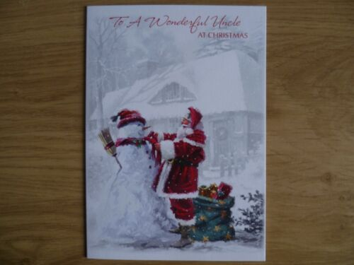 CHRISTMAS CARD TO A WONDERFUL UNCLE AT CHRISTMAS