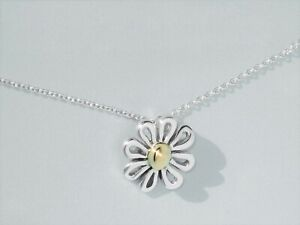 925 Sterling Silver Daisy Flowers Link Bracelet UK Seller