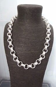2103f9bffc80d Details about Solid Sterling Silver Plain & Patterned Belcher Chain 26