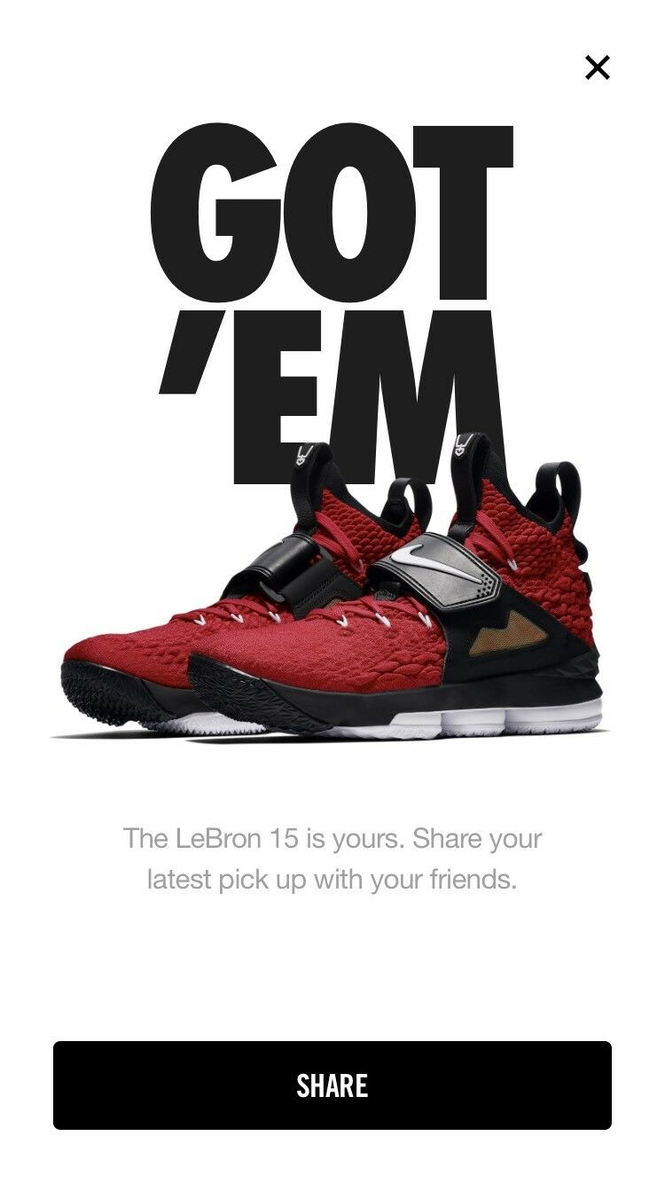 Nike Lebron 15 Red Diamond Turf Size 10 10 10 Confirmed Order Sneakers Sold Out 4035d0