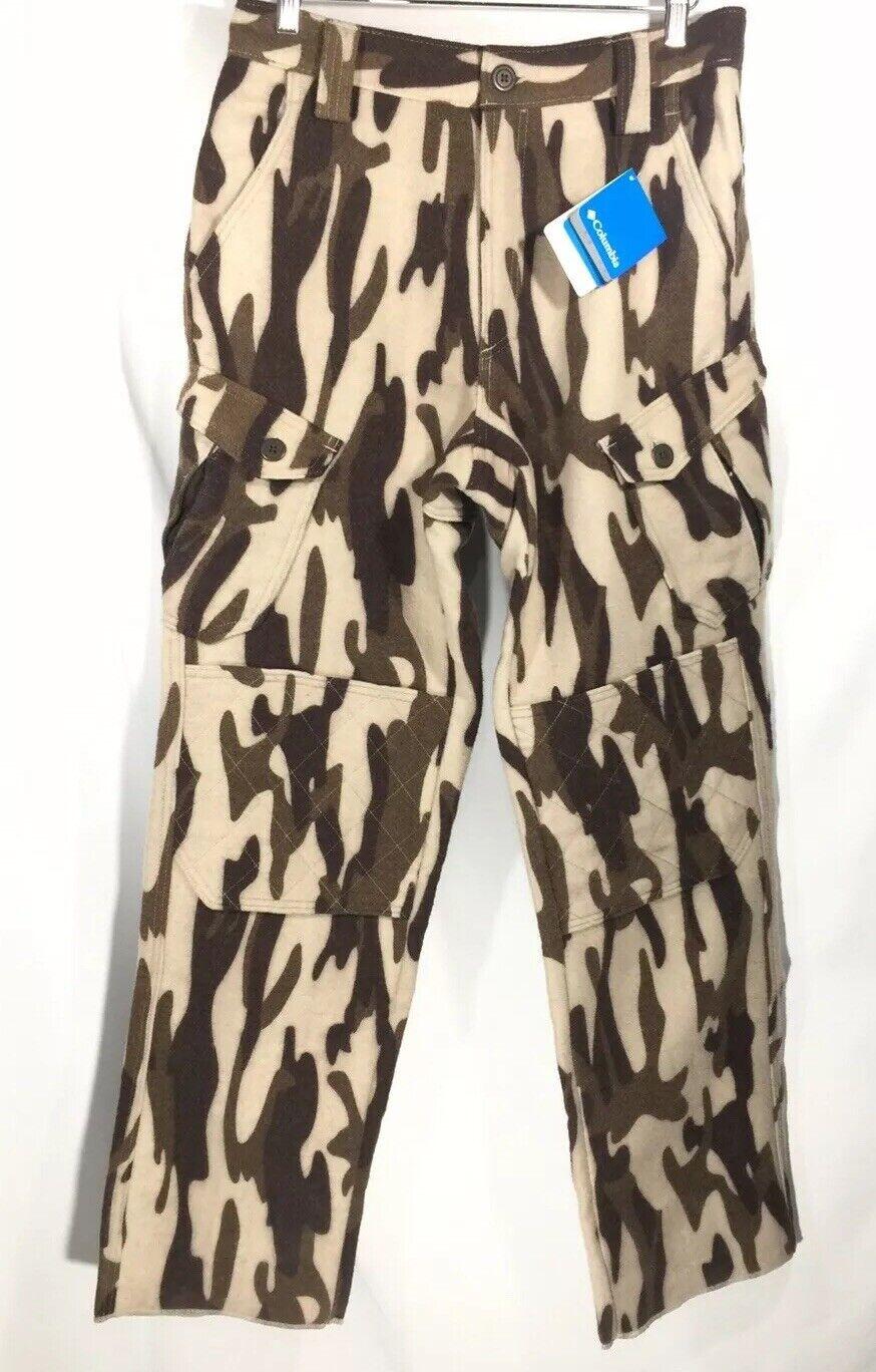 NWT Columbia Performance Hunting Gear PHG Gallatin Ops Wool Camo Pants Mens M