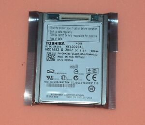 """1.8/"""" Toshiba MK4009GAL CE ZIF PATA 5mm 40GB For DELL Latitude XT D420 D430"""