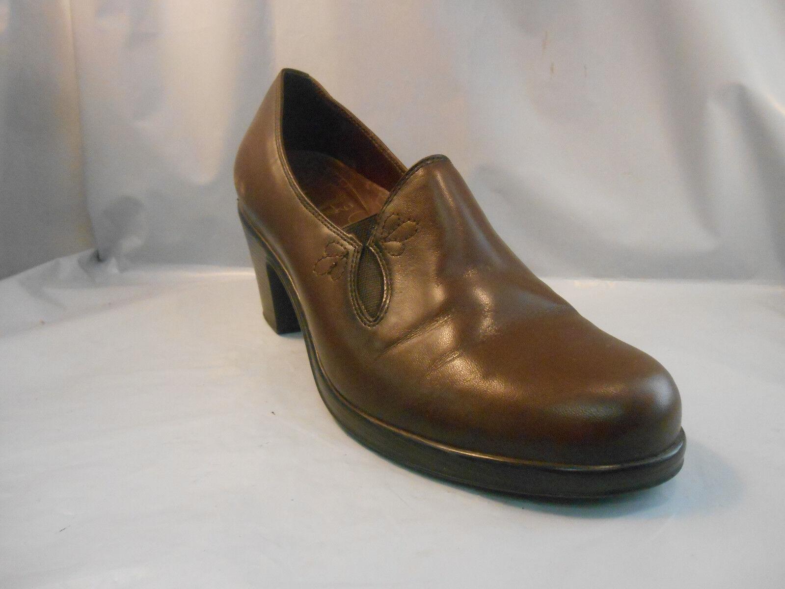 Dansko Beth Brown Leather Loafers shoes Women's Size 10.5 - 11 ; 41 EUR