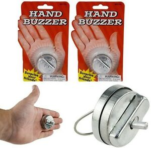 2 Metal Hand Buzzers - Greeting Noise Maker Hand Shaker Shocking Gag Prank