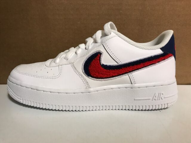Boys Low Price Nike Air Force 1 LV8 1 DBL Sneaker, White