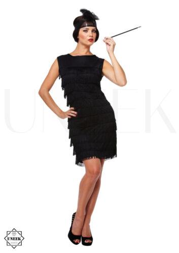Ladies Flapper Fancy Dress Costume 1920s Womens Straight Tassel Dress Halloween