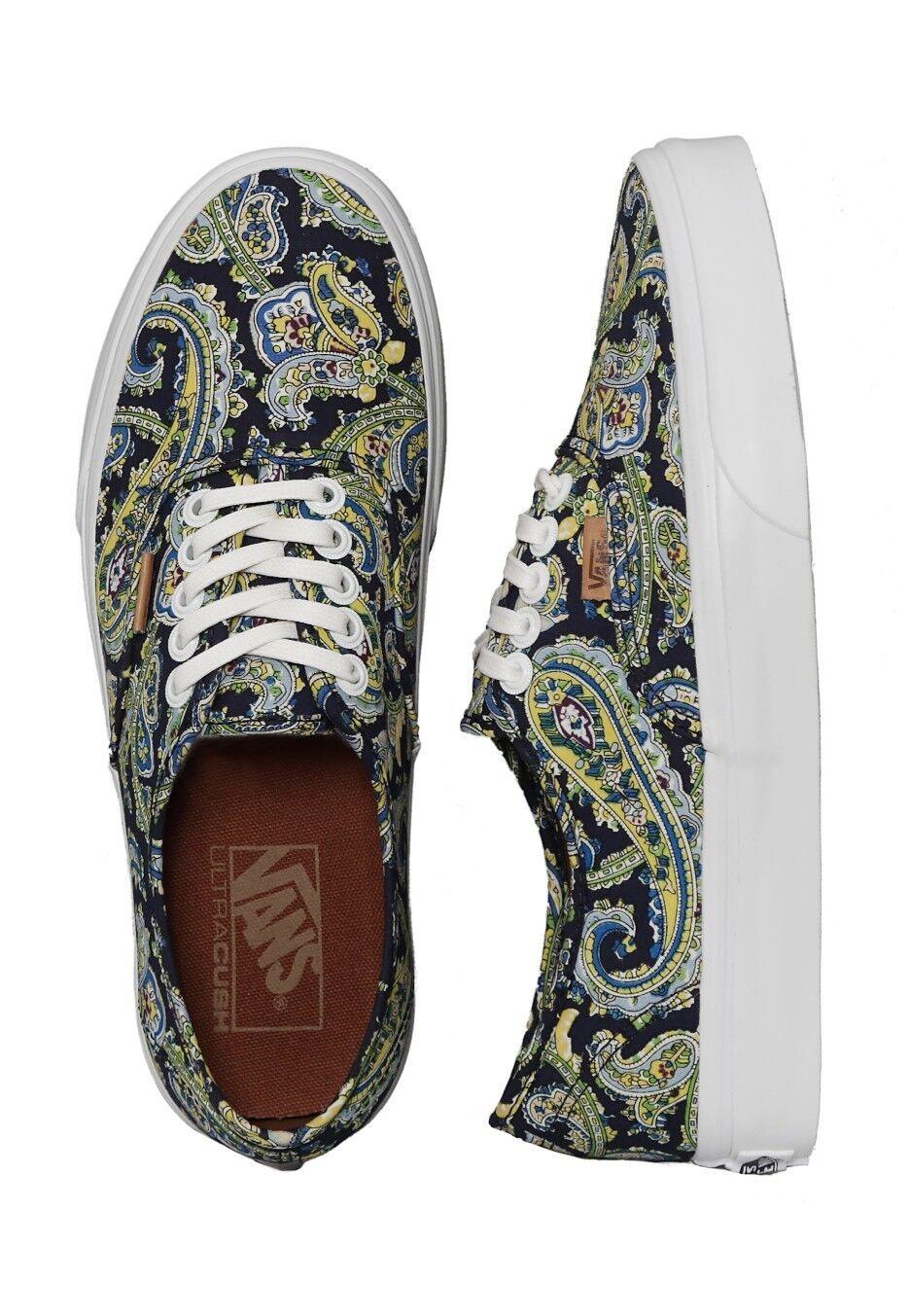 Vans AUTHENTIC   PAISLEY DRESS BleuS Skate Chaussures Homme 4 Femme 5.5 CLASSICS NIB