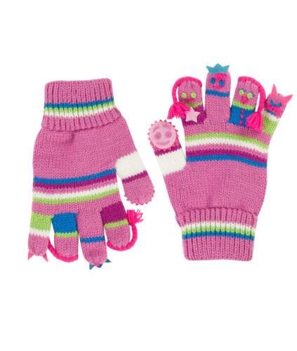 So süß! DÖLL® Mädchen Strick Fingerhandschuhe Handschuhe Maskotchen 2018-19 NEU