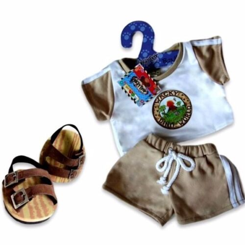 Teddy Bear Clothes fit Build a Bear Teddies Dinosaur Shorts Outfit FREE Shoes