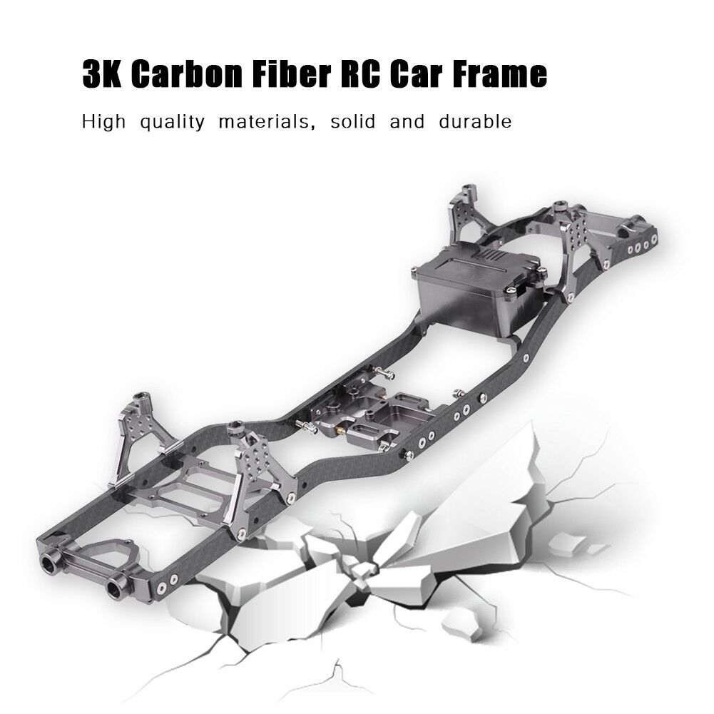 3K Carbon Fiber Car Frame for Axial SCX10   D90 1 10 Scale RC Model Crawler