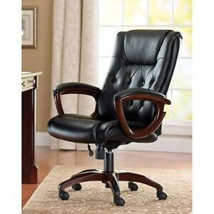 Prime Details About Heavy Duty Leather Office Rolling Computer Chair Brown High Back Executive Desk Short Links Chair Design For Home Short Linksinfo
