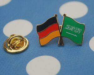 Freundschaftspin-Deutschland-Saudi-Arabien-Pin-Button-Badge-Anstecker-Asien