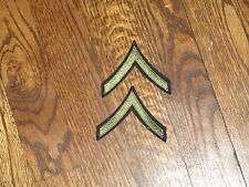 ww2 ,rank  vintage,patch,pfc private first class ,nos,sold as apair, olive inset