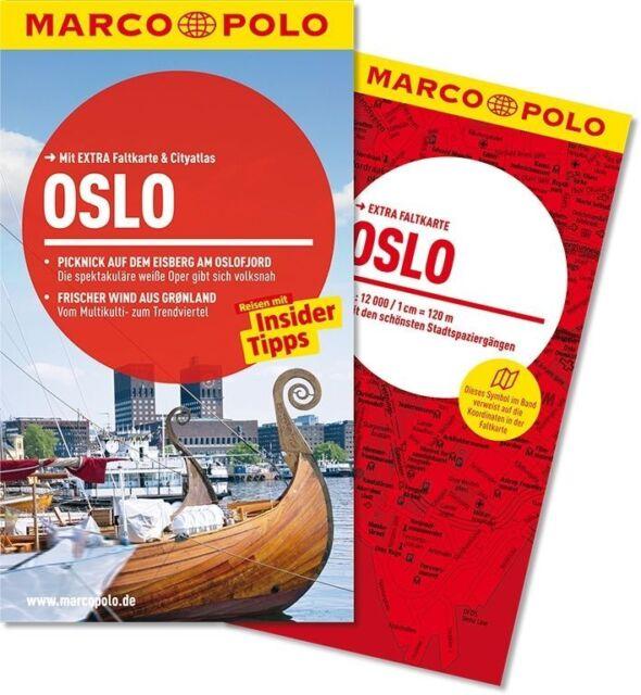!! Oslo Norwegen 2014 mit Karte ungelesen  Reiseführer Urlaub Marco Polo
