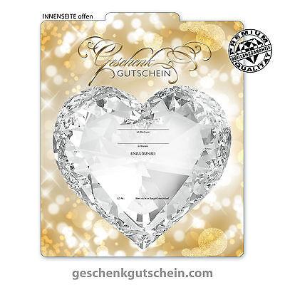 """Premium Faltgutscheine """"Multicolor"""" für Juwelier Schmuckverkauf SC221"""