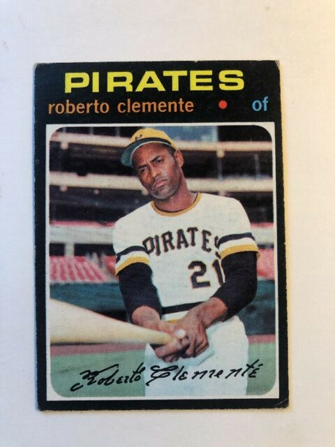 1971 Topps Roberto Clemente Pittsburgh Pirates 630 Baseball Card