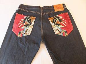 pour Audigier hommes Ed Par Jeans Christian Eagle Lot Snake 2008 Bootcut Hardy wxZRH