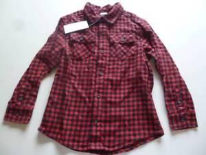 Gymboree-London-Rocker-Black-Red-Plaid-Button-Flannel-Shirt-Size-3-4-5-6-NEW