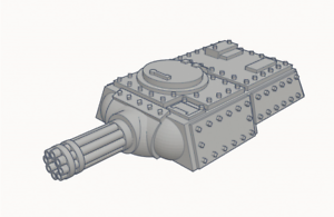 Heavy-Tank-Turret-with-Gatling-Cannon-Triple-Squadron-Pack-Culverin-Models