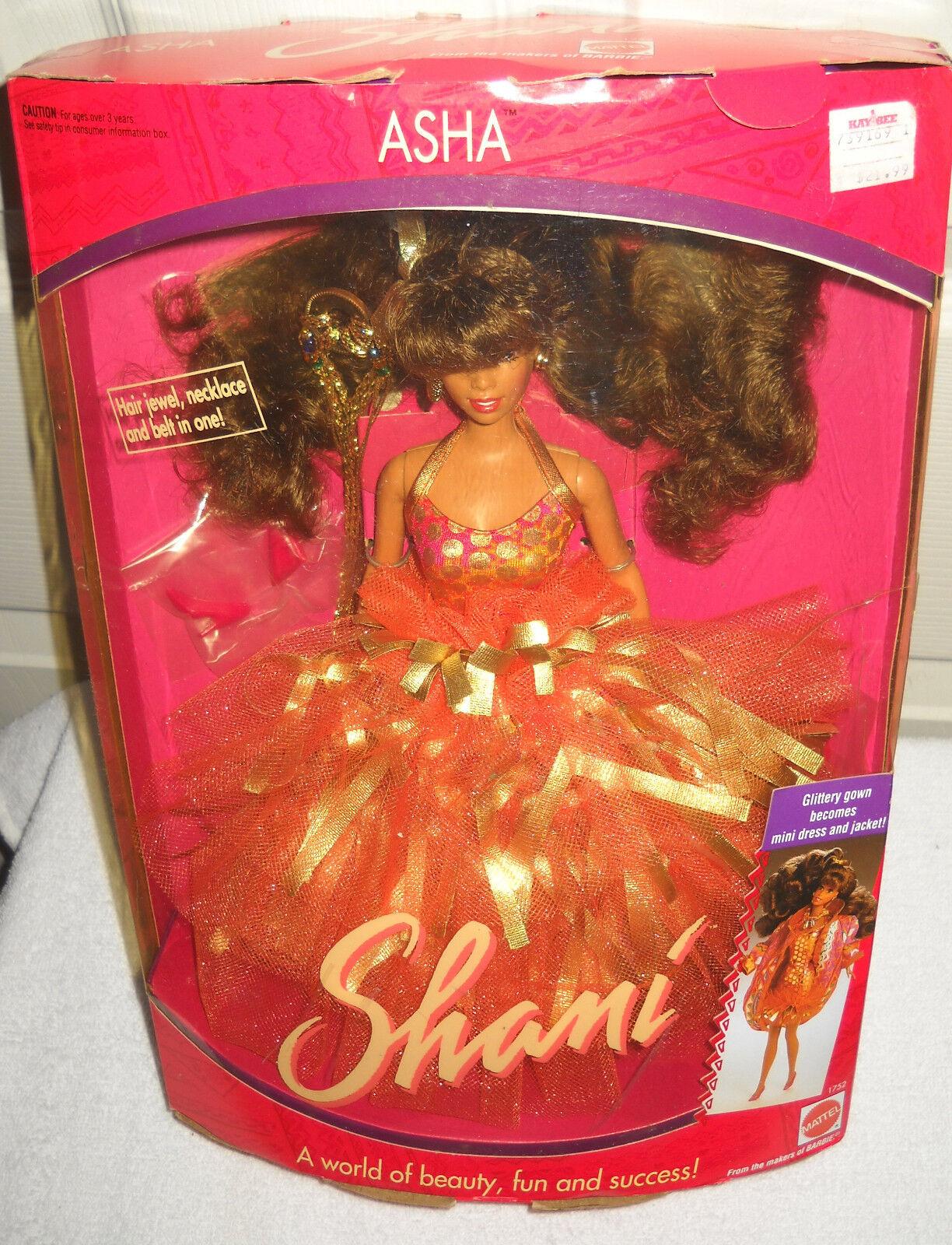 Nrfb Vintage Mattel Shani-Asha African American Muñeca Barbie