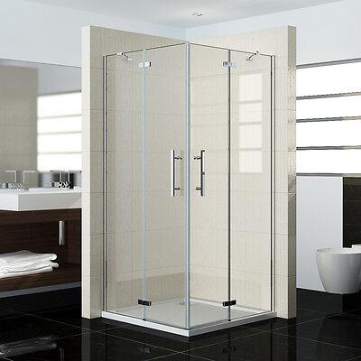 Duschkabine Duschabtrennung Dusche Duschwand Scharniertür Eckeinstieg Echtglas