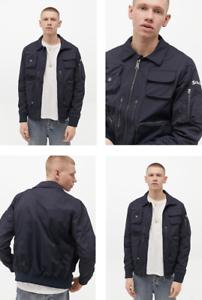 RRP-170-00-Schott-Jones-NYC-Navy-full-zip-Jacket-Size-L
