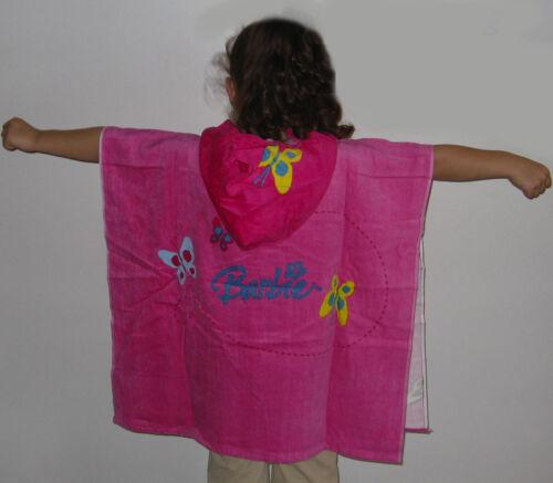 Poncho Beach TowelGirls Hooded Beach TowelButterfliesBarbie