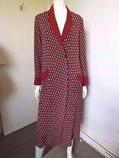 Vintage 30s/40s ~ ORIGINAL Burgundy Crepe Art Deco Dressing Gown Robe S/M