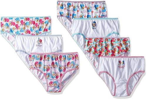 Nickelodeon Little Girls/' Shimmer and Shine 7pk Underwear Panties