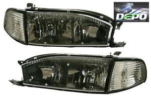 Image Is Loading 92 94 Toyota Camry Black Trim Diamond Headlights