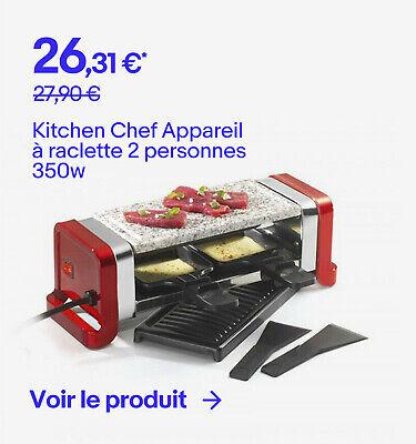 Kitchen Chef Appareil à raclette 2 personnes 350w - 26,31 €*