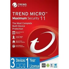 Trend Micro Maximum Security 11 (2017) | 1 Year Licence | 3 Devices