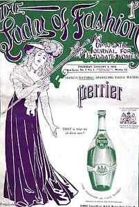 perrier-water-advert-1906-art-modern-painting-print-retro-antique-vintage
