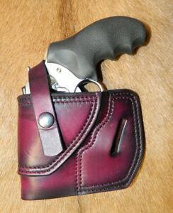 Gary C's Leather Avenger OWB LH Revolver Holster w retention strap RUGER SP 101