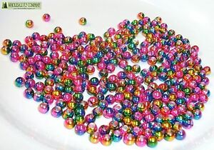 1000 Silver Tungsten Fly Tying Beads Assorted Sizes B Angelsport-Artikel Angelsport-Köder, -Futtermittel & -Fliegen