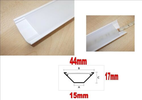 channel for LED 5050 3528 strip light cupcake mount clear PVC frosted covere