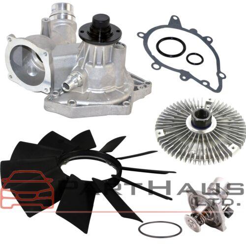 BMW E38 E39 540i 740i 740iL Water Pump Fan Clutch Thermostat Fan Blade Kit 4pc