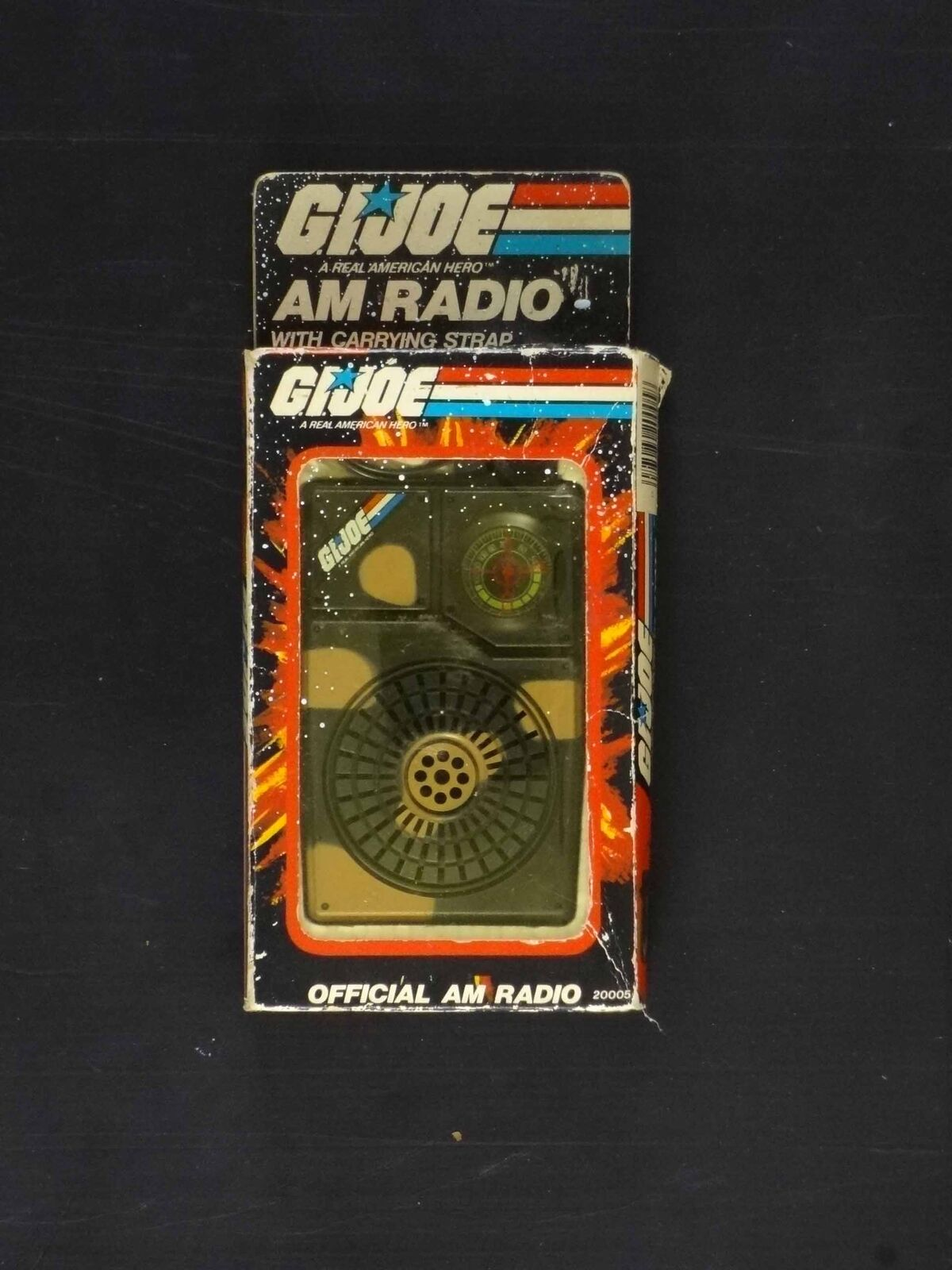 G.I. JOE OFFICIAL AM RADIO-MINT IN BOX-1982-RARE-WOW