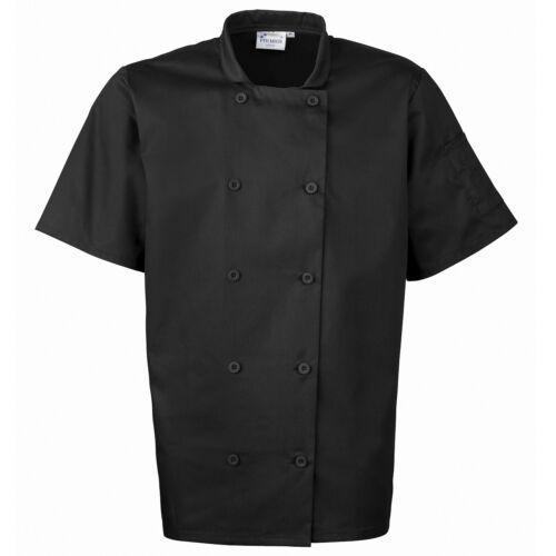 Premier Workwear uomo a maniche corte CHEF/'S Giacca Easy Care Wrap Over chiusura con