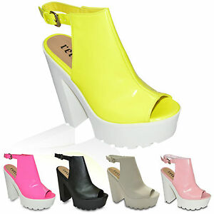 LADIES-WOMENS-CUT-OUT-CHUNKY-SANDALS-HIGH-HEEL-PLATFORM-SUMMER-WEDGES-SHOES-SIZE