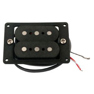 HAND-Humbucker-DOPPIA-BOBINA-Wound-Pick-up-Nero-per-3-corde-Cigar-Box-chitarra
