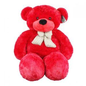 Joyfay-Giant-Teddy-Bear-47-034-120cm-Red-Stuffed-Plush-Toy-Valentines-Gift