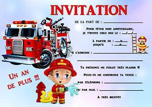 5-12-ou-14-cartes-invitation-anniversaire-pompier-ref-458